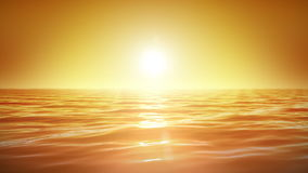 Beautiful Sunset over the Sea. Orange Sky. Relaxing Looped Animation. royalty free illustration