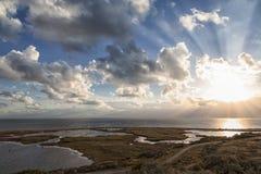 Beautiful sunset over the sea. Oresund malm Stock Image