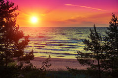 Beautiful sunset over sea Royalty Free Stock Image