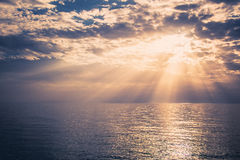 A beautiful sunset over the sea Royalty Free Stock Photography