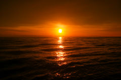 Beautiful sunset over the sea Stock Images