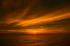 Beautiful sunset over the sea Royalty Free Stock Photos