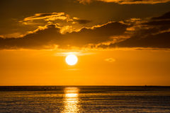 Beautiful sunset over the sea. Royalty Free Stock Photography