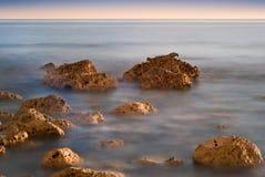 Beautiful sunset over Summer ocean Royalty Free Stock Photos