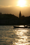 Beautiful sunset over Venice Stock Image