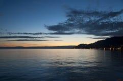 A Beautiful Sunset over Vevey, Switzerland Stock Images