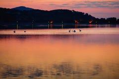 Beautiful sunset over water on Sardinia island Royalty Free Stock Photography