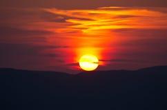 Beautiful sunset over Zakynthos island, Greece Royalty Free Stock Photography