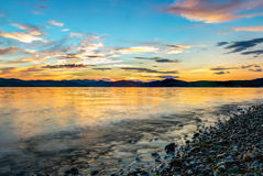 Beautiful sunset on pacific ocean - HDR Royalty Free Stock Photos