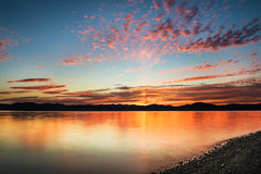 Beautiful sunset on pacific ocean - HDR Stock Photo