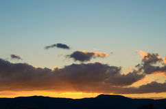 Beautiful sunset panoramic view, Alsace, France Royalty Free Stock Photo