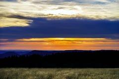 Beautiful sunset panoramic view, Alsace Stock Photos