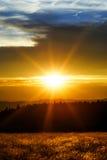 Beautiful sunset panoramic view, Alsace Royalty Free Stock Photos