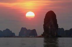 Beautiful sunset at PANYEE ISLAND Royalty Free Stock Photo