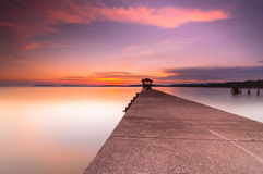 Beautiful sunset at pasir panjang Stock Images