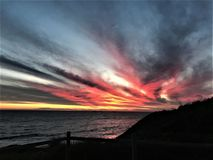 Beautiful Sunset in Perth Australia royalty free stock photography