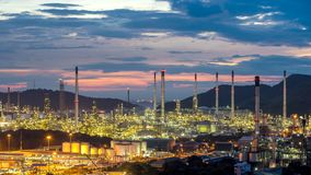 Petrochemical oil refinery factory plant Thailand Royalty Free Stock Photo