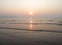 Beautiful sunset. This is photo of sunset at beach of revdanda,India stock images