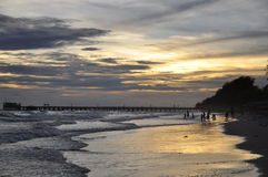 Beautiful sunset pictures on the beach Stock Images