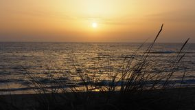 A beautiful sunset in a Portuguese beach. Portugal royalty free stock photography