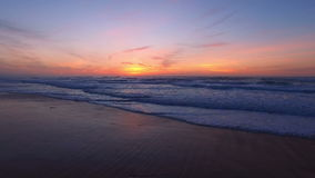 Beautiful sunset at Praia Vale Figueiras Portugal. Beautiful sunset at Praia Vale Figueiras in Portugal stock video