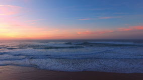 Beautiful sunset at Praia Vale Figueiras Portugal. Beautiful sunset at Praia Vale Figueiras in Portugal stock footage