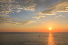 Beautiful sunset at Promthep cape view point in Phuket Stock Photography