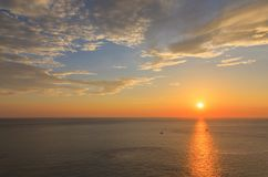 Beautiful sunset at Promthep cape view point, Phuket Royalty Free Stock Image