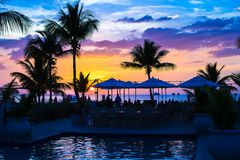 Beautiful sunset in Providenciales on Turks and Royalty Free Stock Image