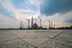 Beautiful sunset at Putra Mosque, Putrajaya Malaysia. Taken at low angle Stock Photo