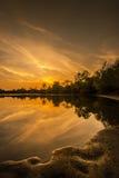 Beautiful Sunset Reflection Royalty Free Stock Photography