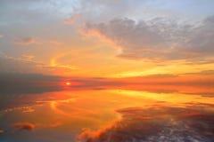 Beautiful Sunset with reflection Royalty Free Stock Photo