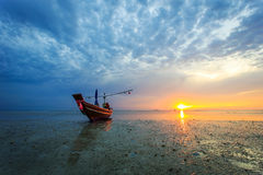 Beautiful sunset and reflection of sea at Samui island Stock Images