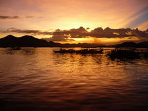 Beautiful Sunset. Relaxing view - sunset in the Philippines stock photo