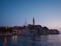 Beautiful sunset in a Rovinj, Croatia Royalty Free Stock Photography