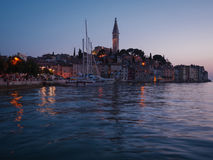 Beautiful sunset in a Rovinj, Croatia Royalty Free Stock Photos