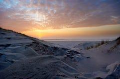 Beautiful sunset and sand dunes Royalty Free Stock Photo