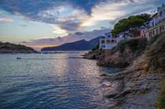Beautiful sunset in Sant Elm at GR 221, Mallorca, Spain Stock Photos