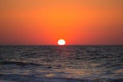 Beautiful sunset in Santorini Stock Images