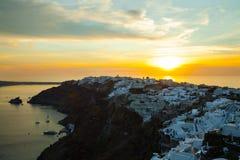 Beautiful sunset in Santorini Stock Image