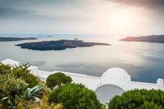 Beautiful sunset on Santorini island, Greece Stock Photo