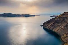 Beautiful sunset on Santorini island, Greece Royalty Free Stock Image
