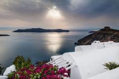 Beautiful sunset on Santorini island, Greece Royalty Free Stock Photo
