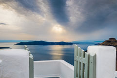 Beautiful sunset on Santorini island, Greece. Royalty Free Stock Image