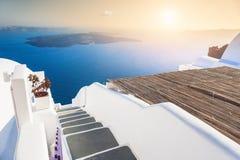 Beautiful sunset on Santorini island, Greece Stock Photography