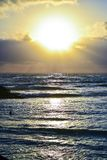 Beautiful sunset scene royalty free stock images