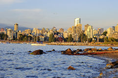 Beautiful sunset scenery of Vancouver Stock Photography