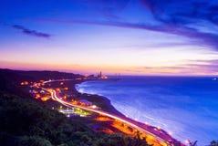 Beautiful sunset scenes. In Taiwan Royalty Free Stock Image