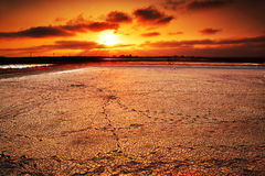 Beautiful sunset scenes. With sun rays in Taiwan Royalty Free Stock Photography