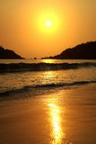 Beautiful sunset in the sea Royalty Free Stock Photos